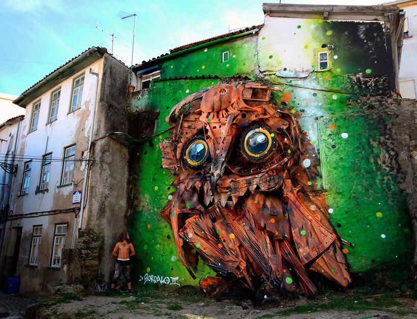 El arte urbano que remueve conciencias de Bordalo II 6