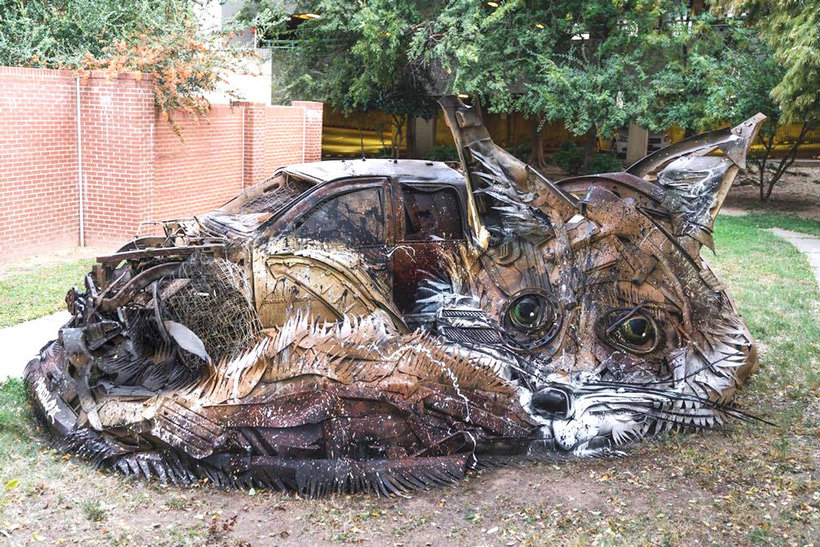 El arte urbano que remueve conciencias de Bordalo II 1