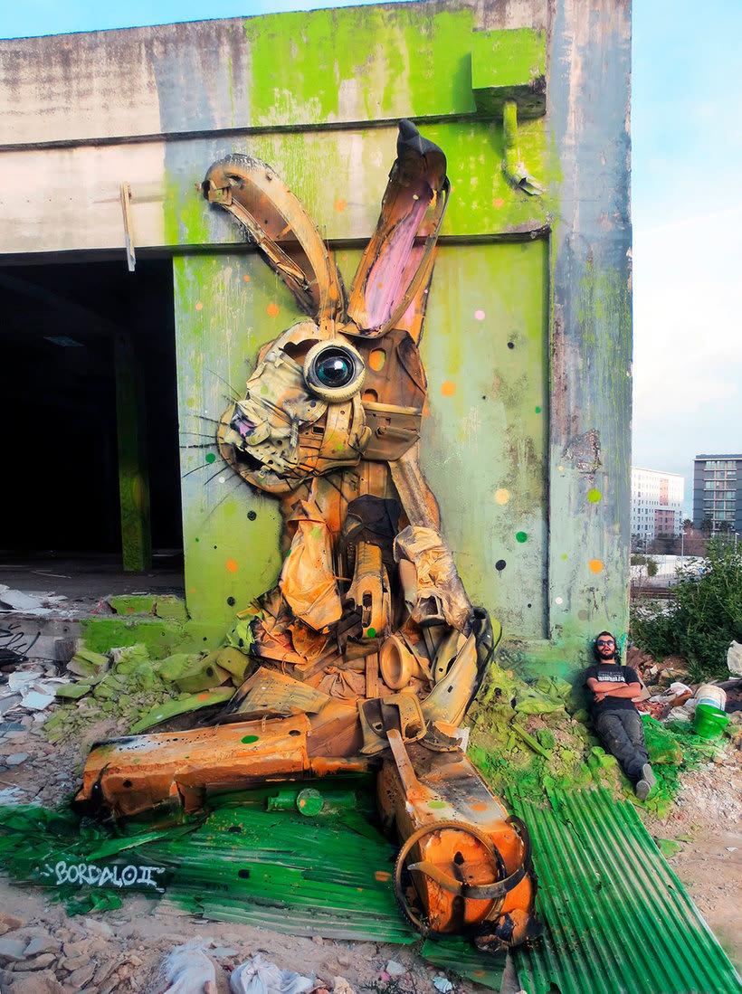 El arte urbano que remueve conciencias de Bordalo II 8