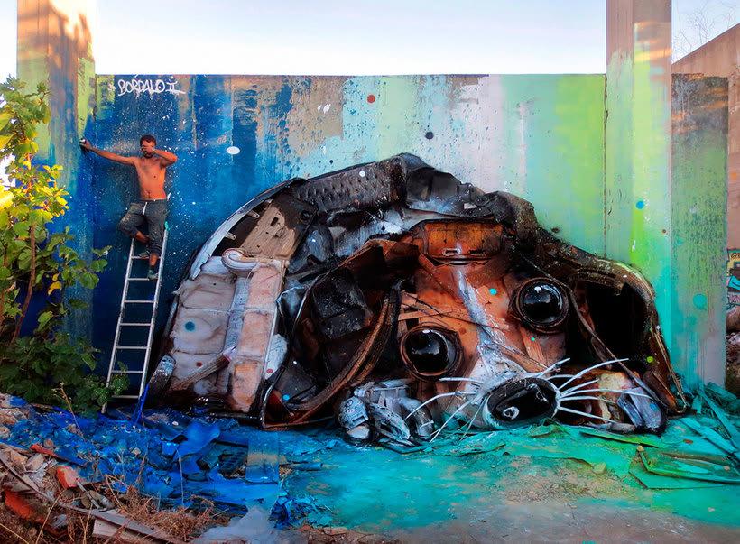 El arte urbano que remueve conciencias de Bordalo II 10