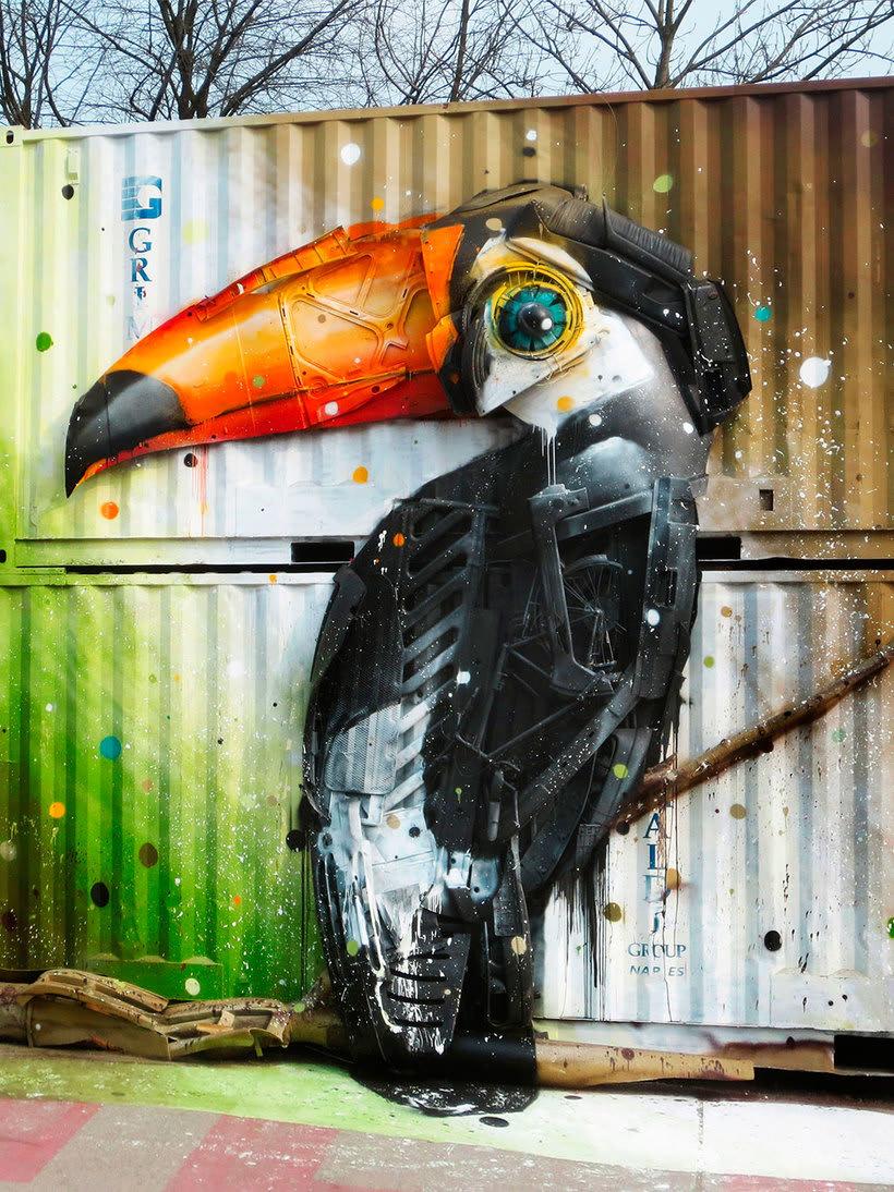 El arte urbano que remueve conciencias de Bordalo II 11