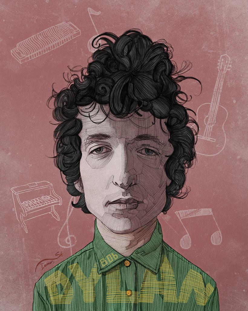 Diseños e ilustraciones que homenajean a Bob Dylan 10