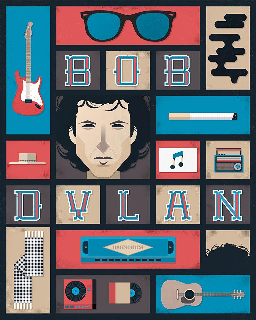 Diseños e ilustraciones que homenajean a Bob Dylan 14