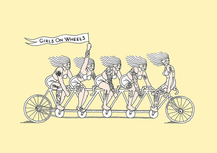 Girls on wheels 1