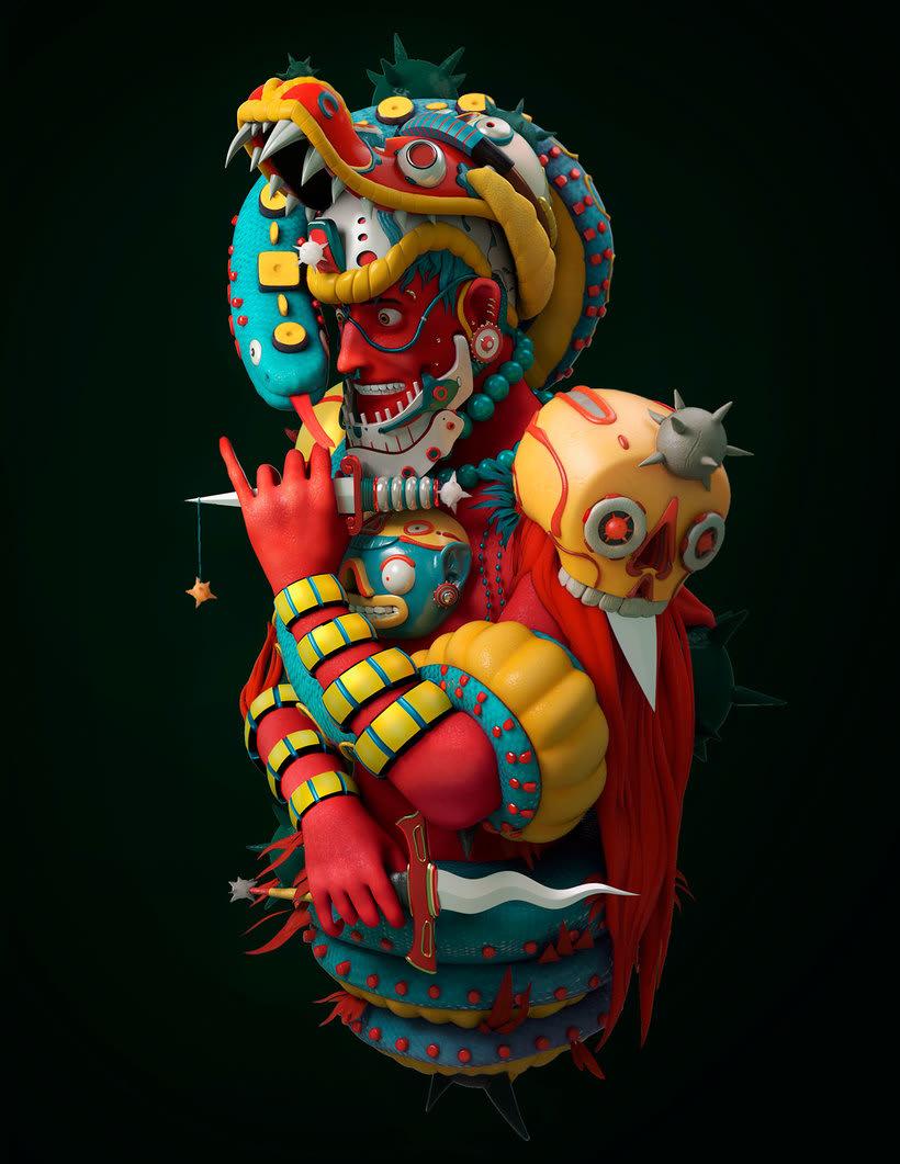 El folclore mexicano en 3D de Fer Aguilera Reyes 1