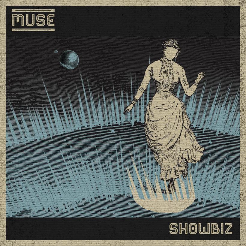 Reinterpretación de las carátulas de un disco y un single de Muse 0