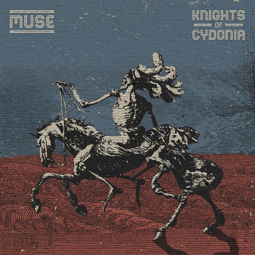 Reinterpretación de las carátulas de un disco y un single de Muse 2