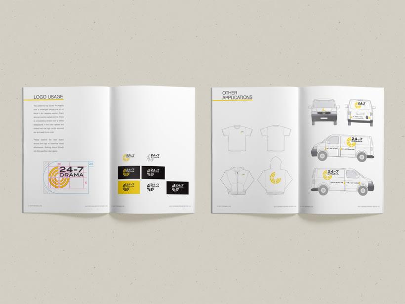 24-7 Drama / Diseño de marca 6