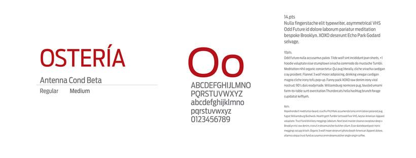 Séptimo Ostería (Naming, branding e interiorismo para restaurante) 5