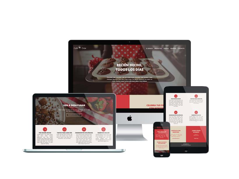 Café Oslo | Pagina Web Responsive & Mockups 0