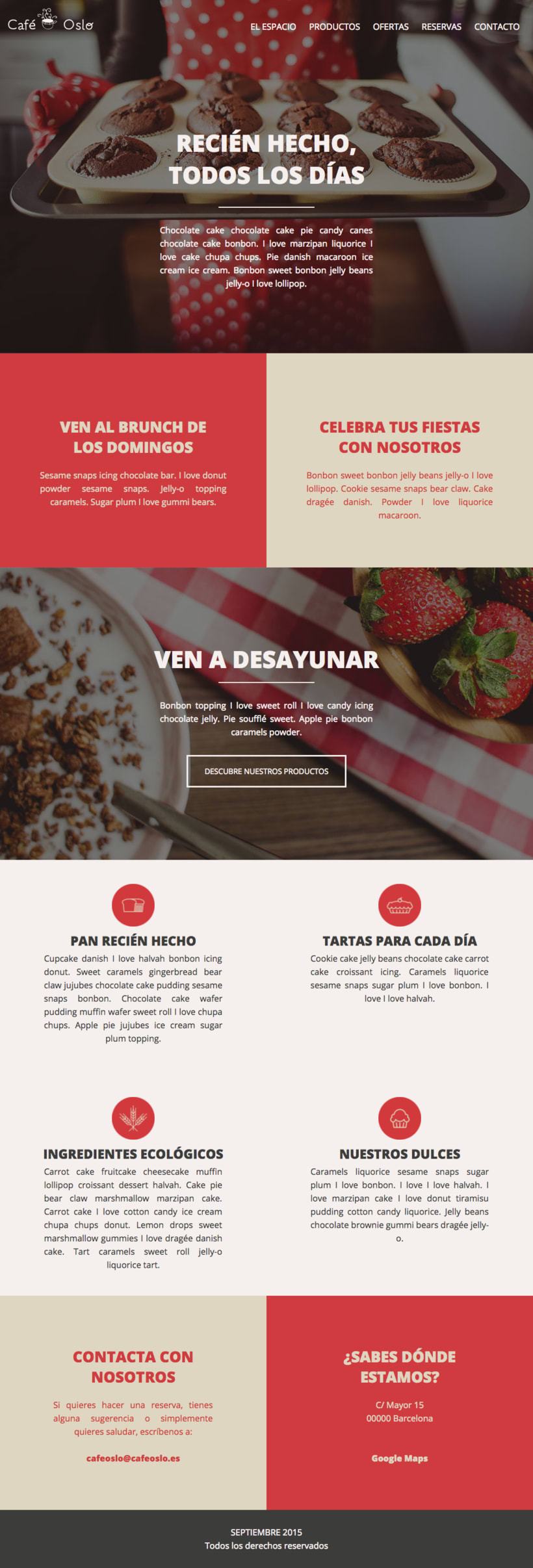 Café Oslo | Pagina Web Responsive & Mockups 2