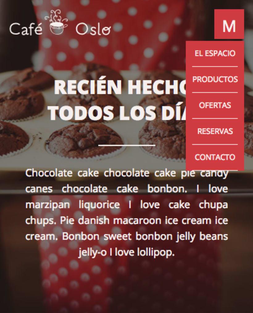 Café Oslo | Pagina Web Responsive & Mockups 4