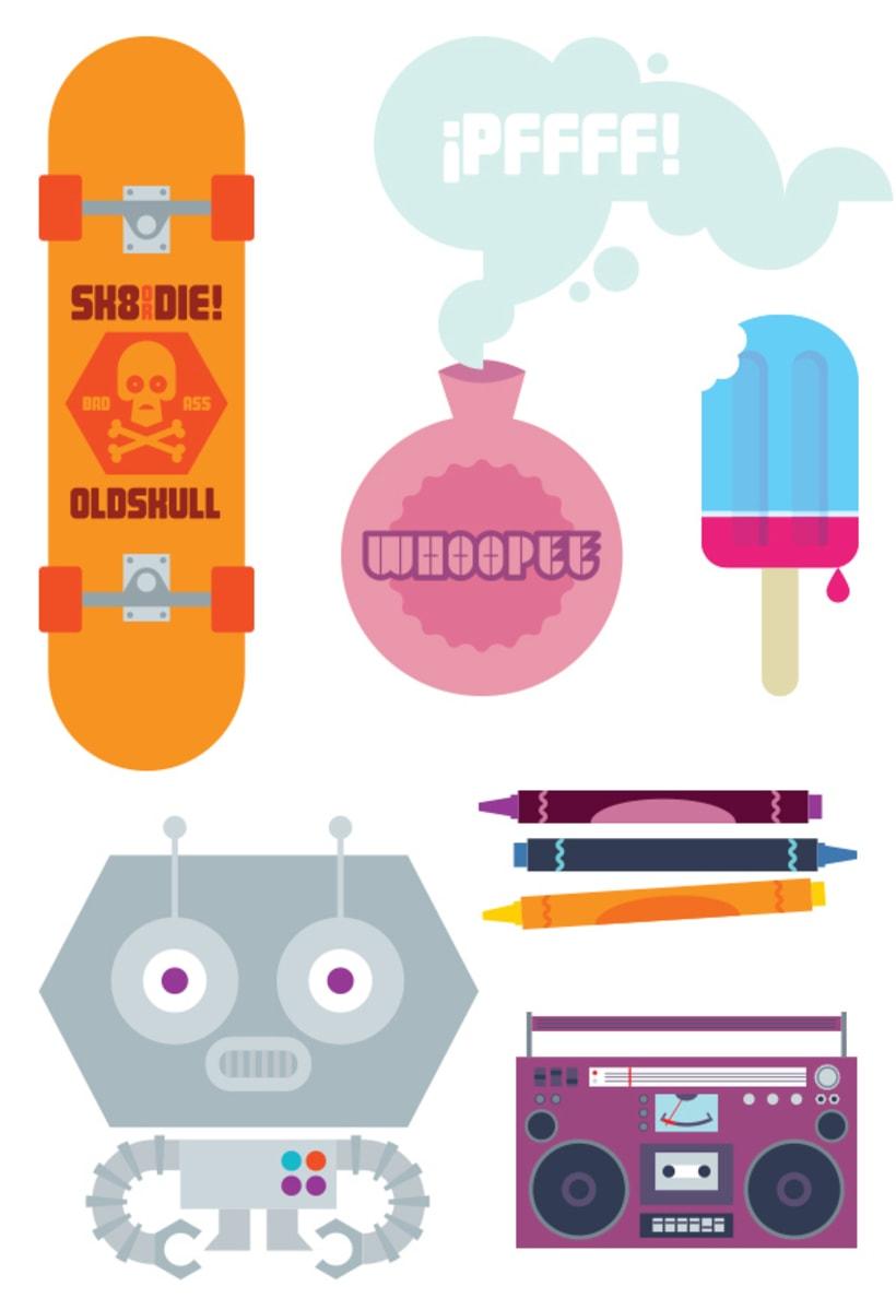 Lúdico (ilustraciones para páginas centrales de la publicación El Fanzine) -1