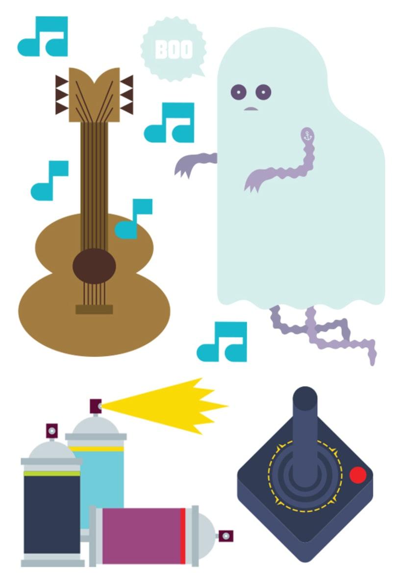 Lúdico (ilustraciones para páginas centrales de la publicación El Fanzine) 1