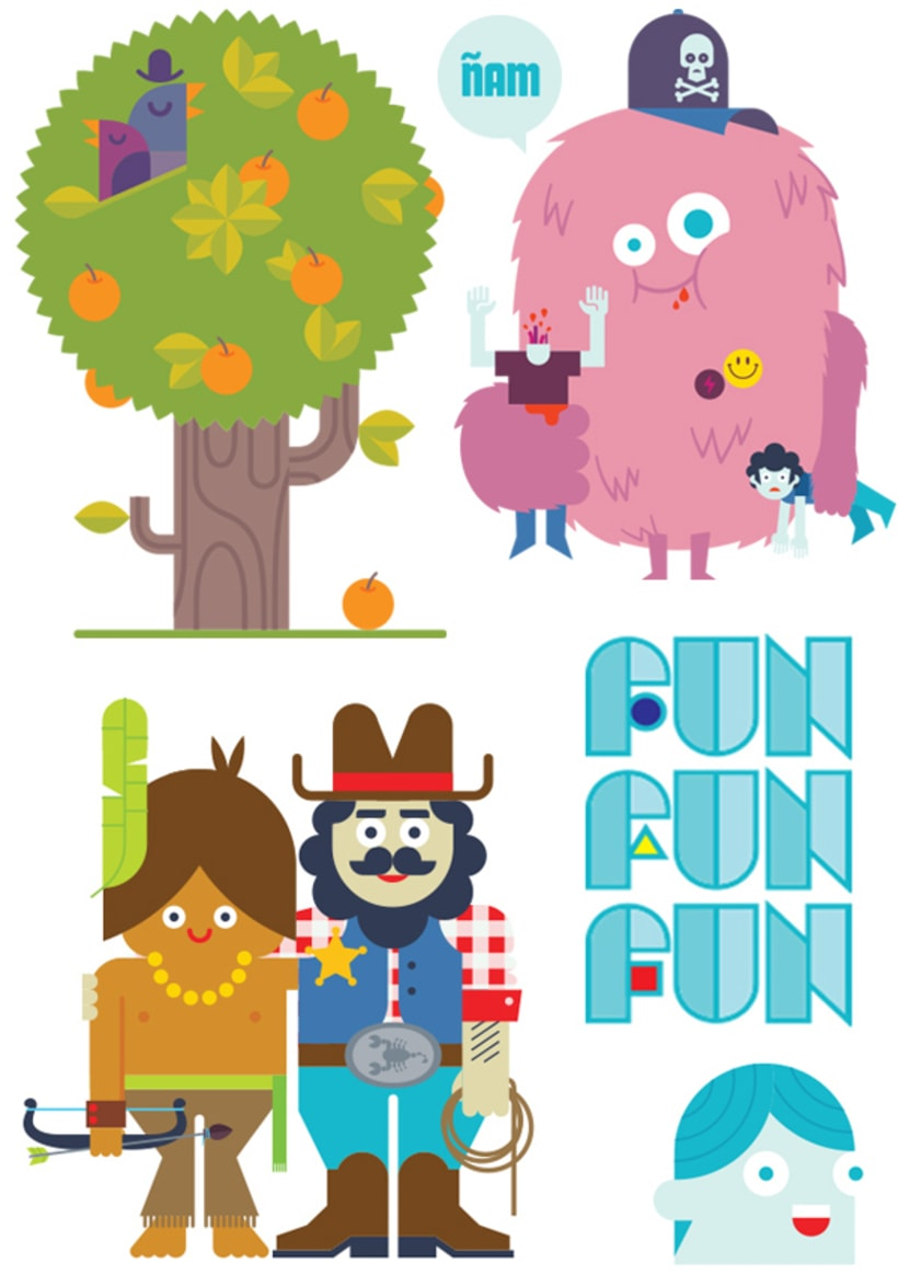 Lúdico (ilustraciones para páginas centrales de la publicación El Fanzine) 2