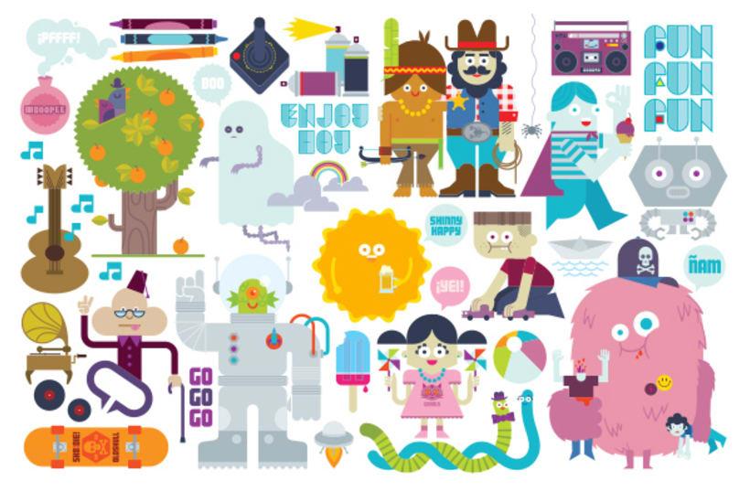 Lúdico (ilustraciones para páginas centrales de la publicación El Fanzine) 3
