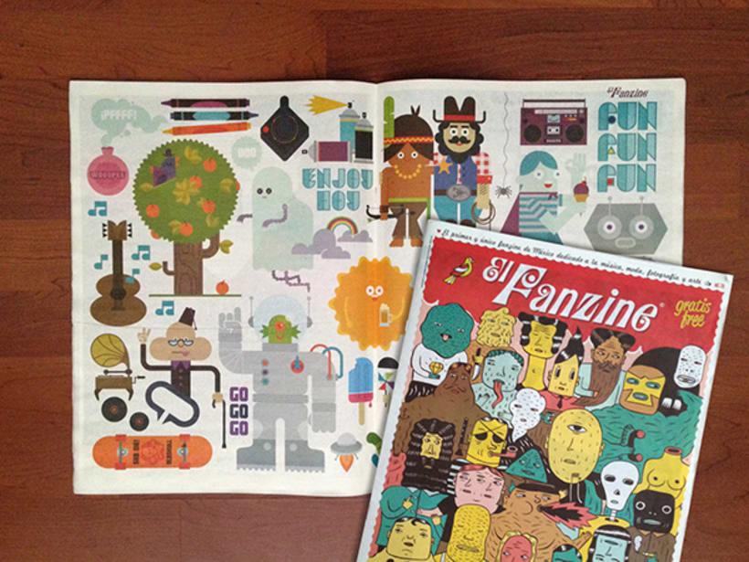 Lúdico (ilustraciones para páginas centrales de la publicación El Fanzine) 4