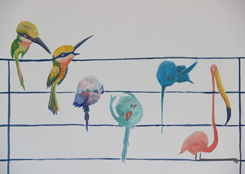 """Mural """"Pajaroleando"""" 3"""