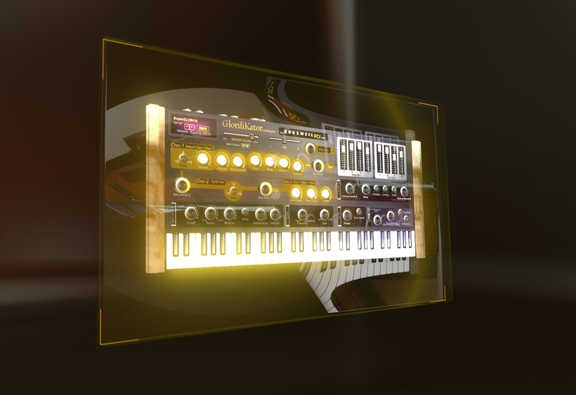 3D synthesizers real functional and programmed (3D recreation). 1