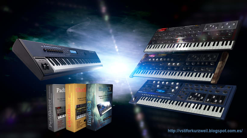 3D synthesizers real functional and programmed (3D recreation). 5
