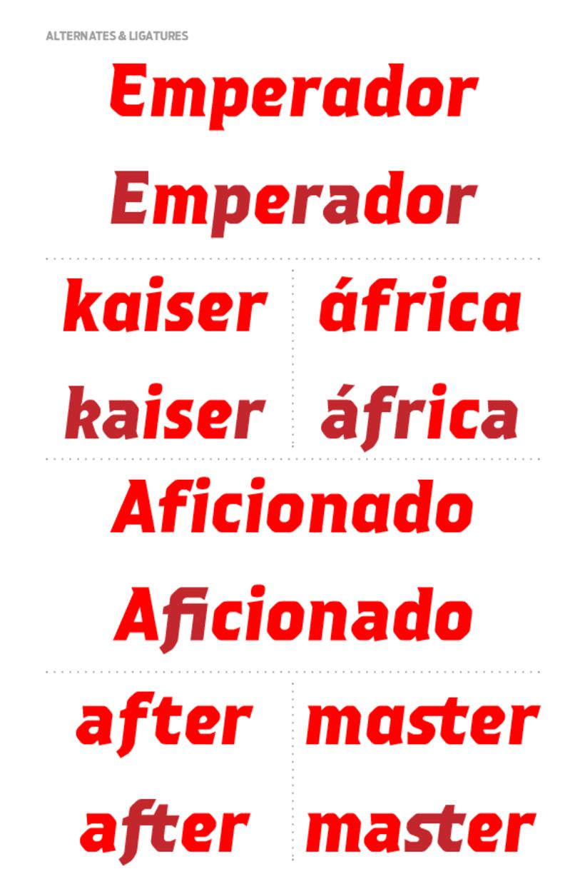 Emperador (Custom font) 3