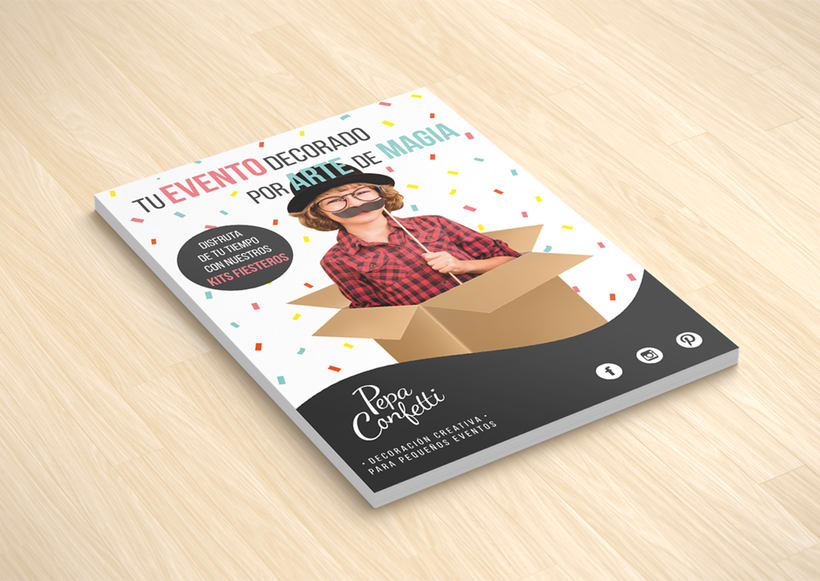 "Flyer | Pepa Confetti ""Fiestas infantiles"" 1"