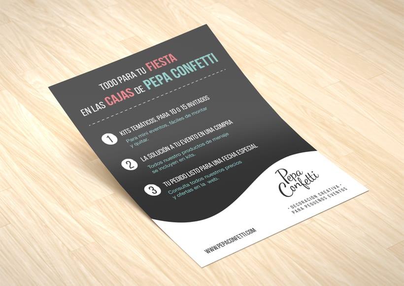 "Flyer | Pepa Confetti ""Fiestas infantiles"" 2"