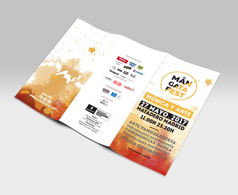 MANGATAFEST. Proyecto final de máster. Es un festival multidisciplinar que pretende generar un ambiente de sensaciones y experiencias que envuelvan al público a través del arte y la música electrónica.  6