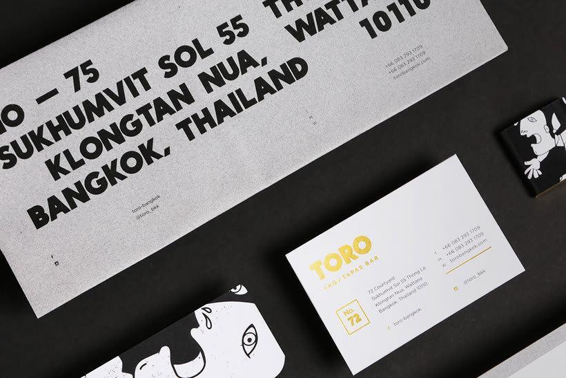 Futura diseña el branding del restaurante Toro 4