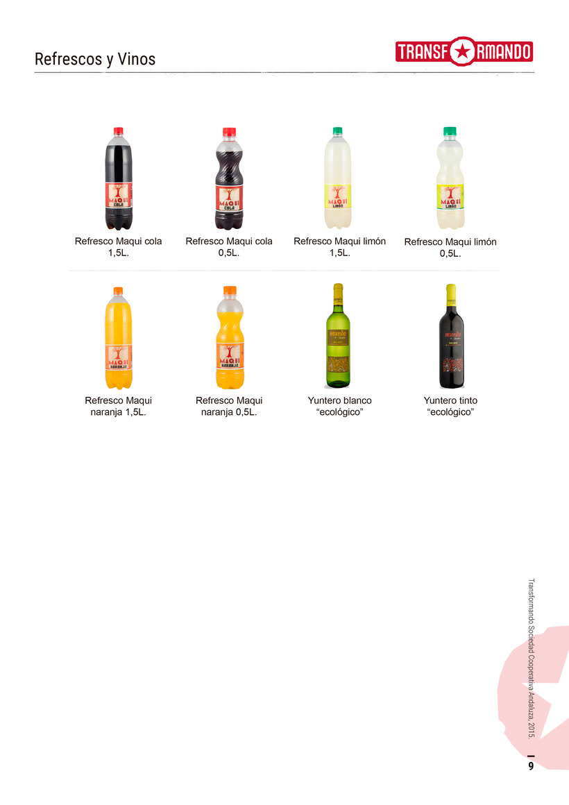 Catálogo de productos - Transformando Cooperativa 10