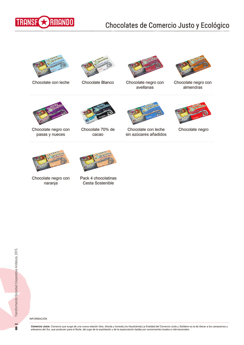 Catálogo de productos - Transformando Cooperativa 9
