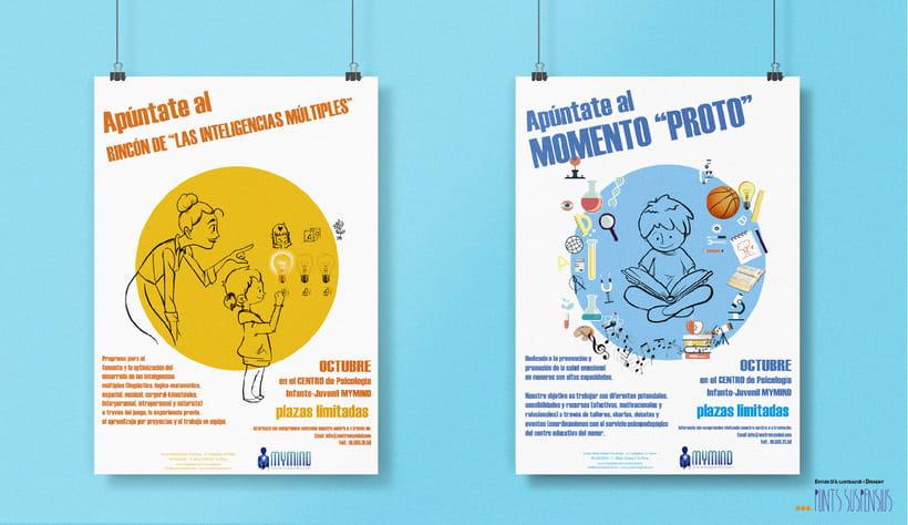 Diseño de carteleria - Ayuntamiento de Sax y Clínica MyMind 1