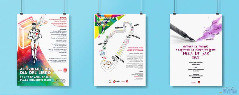 Diseño de carteleria - Ayuntamiento de Sax y Clínica MyMind 2