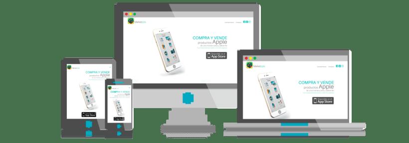 Desarrollo y Diseño Web de Marketpple - App segunda mano Apple 0