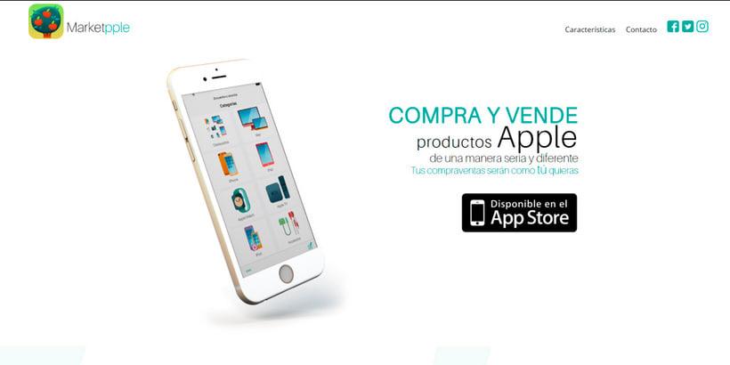 Desarrollo y Diseño Web de Marketpple - App segunda mano Apple 1