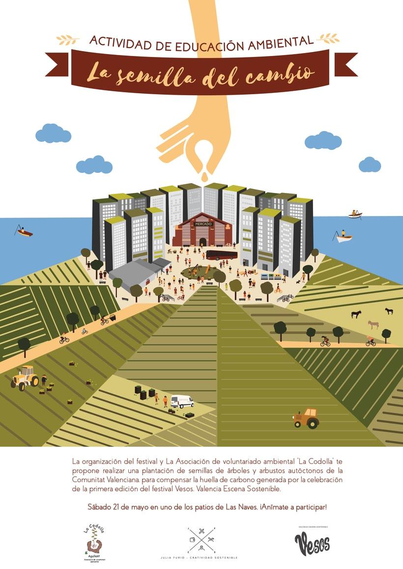 Diseño de cartel para actividad de educación ambiental. 1