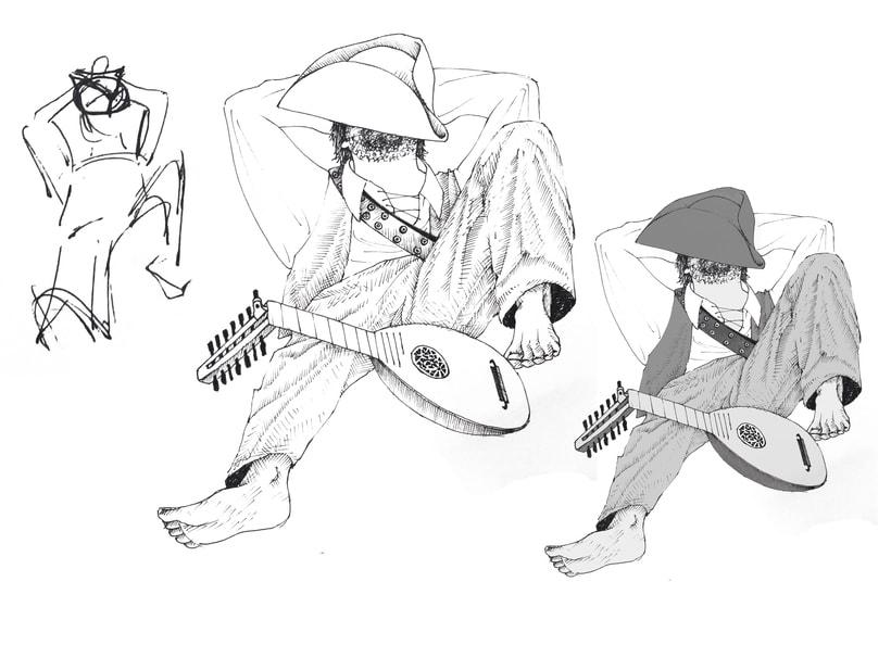 """Ilustración; """"en la piratería del siglo XV, los músicos descansaban los Sábados"""" 1"""