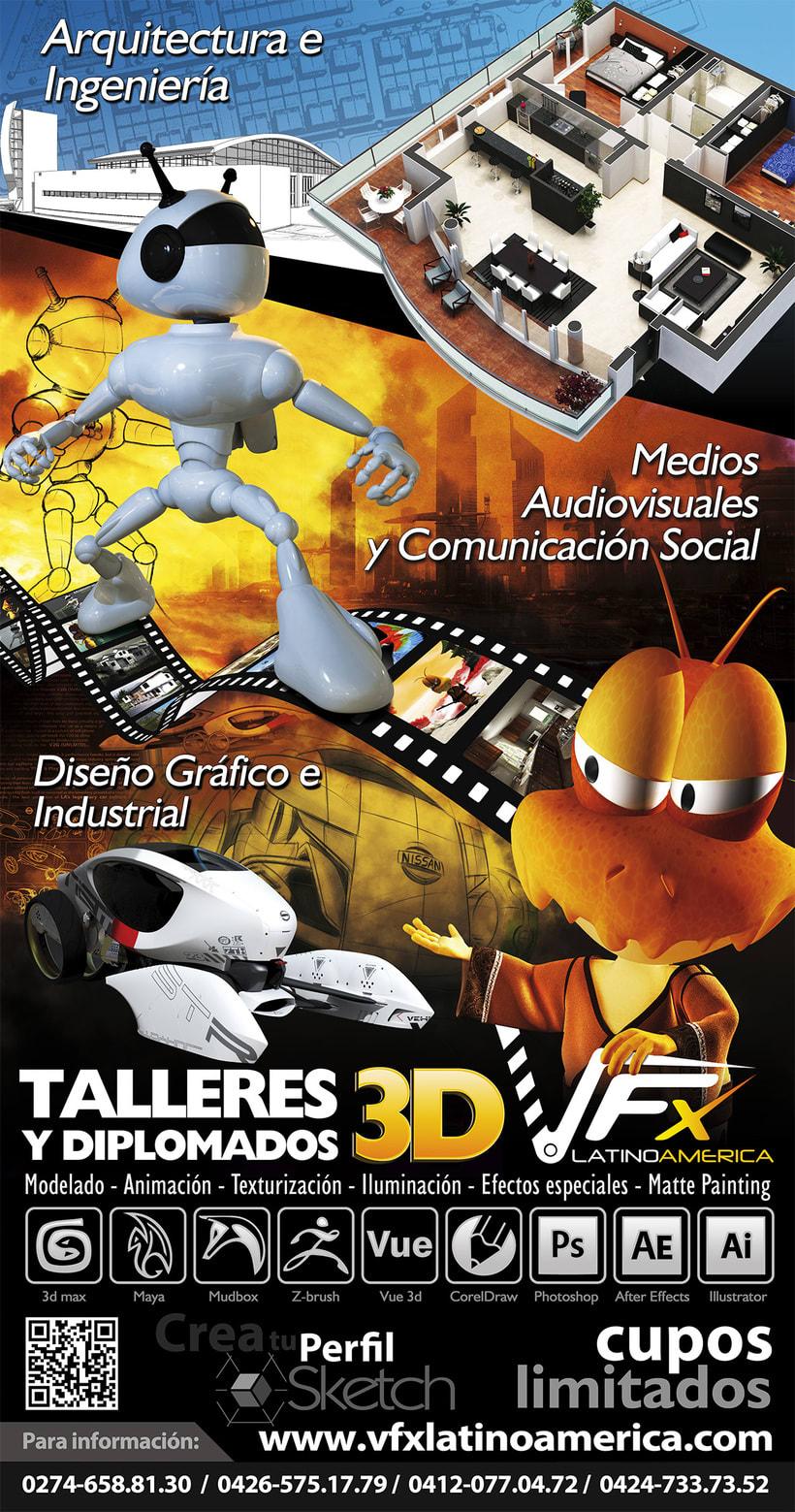 VFX Latinoamerica / talleres y Diplomados 3D 0