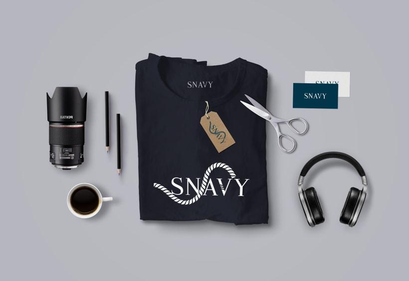 Identidad Gráfica. Snavy (marca de ropa) 2
