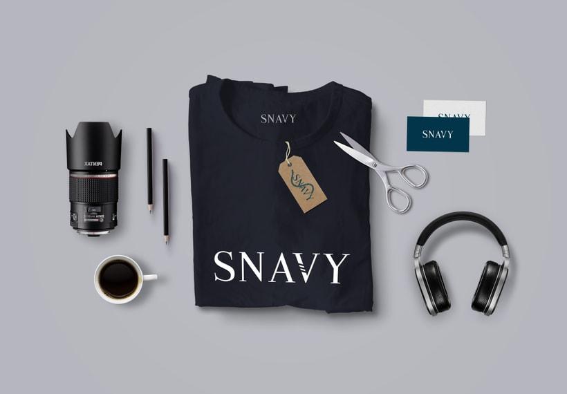 Identidad Gráfica. Snavy (marca de ropa) 3