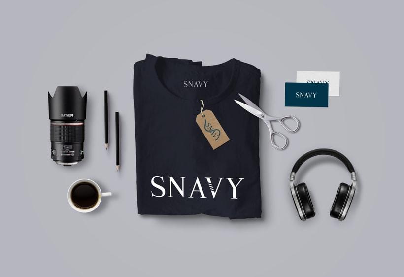 Identidad Gráfica. Snavy (marca de ropa) 7
