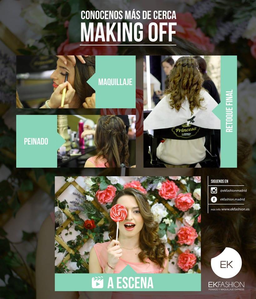 Diseñadora gráfica y blogger para EK Fashion, Salón de Belleza 2