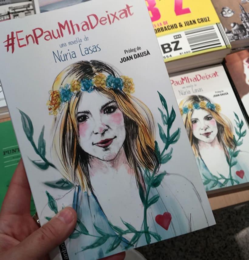 """Ilustración de portada y letterings del libro """"En Pau m'ha deixat"""" de Núria Casas 1"""