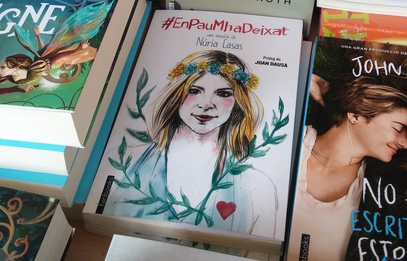 """Ilustración de portada y letterings del libro """"En Pau m'ha deixat"""" de Núria Casas 3"""