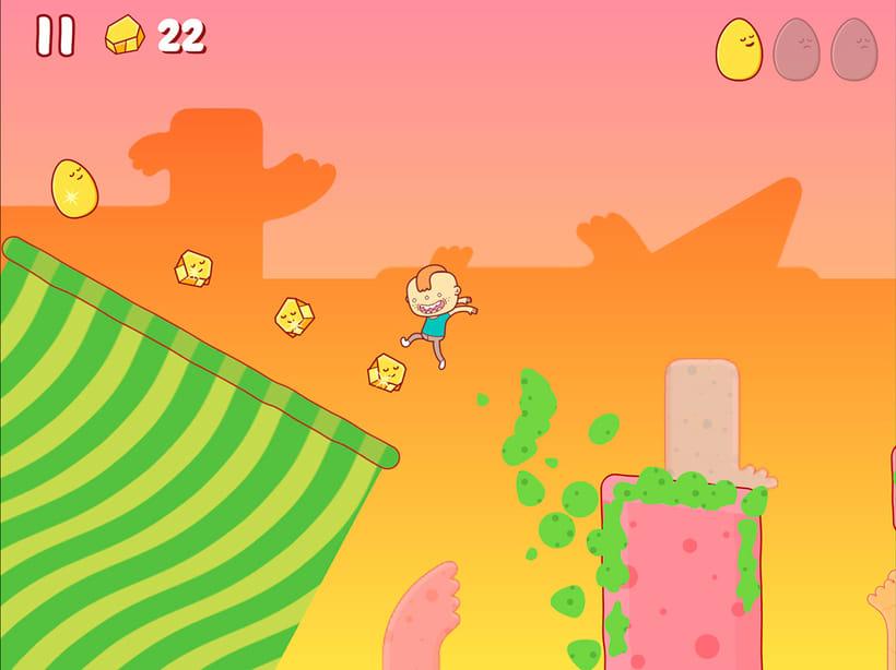 Egggggg, un juego para iOS y Android ilustrado por Brosmind 4