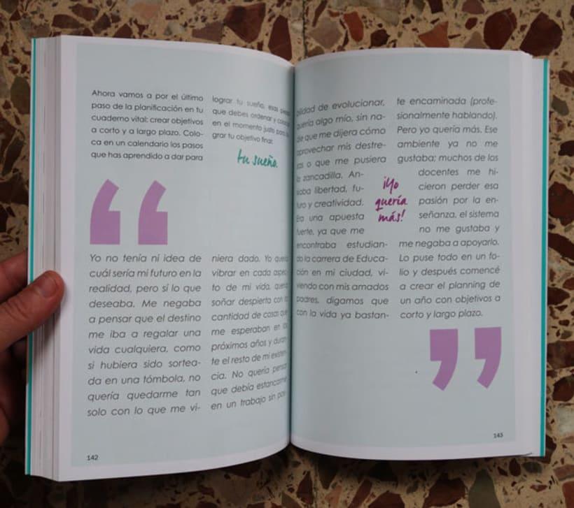 """Diseño y maquetación del libro """"Be yourself"""" de María Cadepe. 1"""