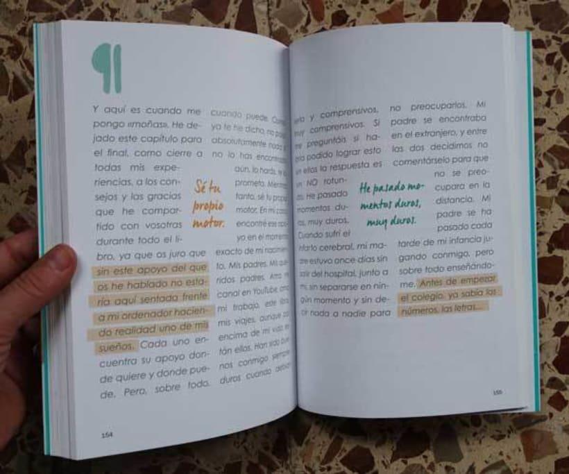 """Diseño y maquetación del libro """"Be yourself"""" de María Cadepe. 5"""