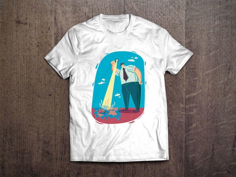 Fundiendo el planeta | Ilustración vectorial para camisetas / bolsos 1