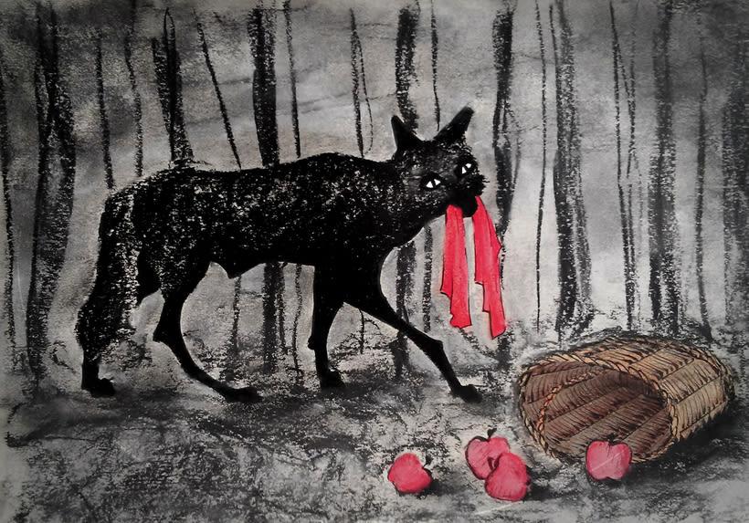 Y... el lobo se encontró a caperucita. 0
