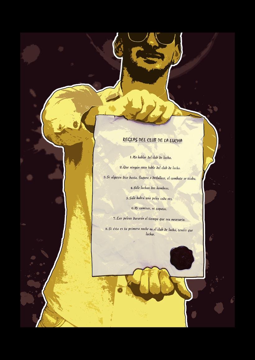 """Ilustraciones para la novela """"Fight Club"""" (1/3 tomo, primeros 10 capítulos) 5"""